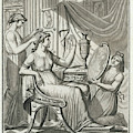A Roman Lady Has Her Hair Done by Mary Evans Picture Library
