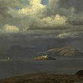 Alcatraz San Francisco Bay by Albert Bierstadt