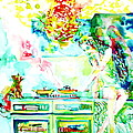Angel Ghost Girl Cooking Again In Her Passed Life's Kitchen With Her Friend Cat by Fabrizio Cassetta