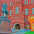 Back Of Russian Historical Museum In Moscow-russia by Ruth Hager