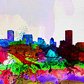 Baltimore Watercolor Skyline by Naxart Studio