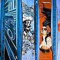 Bluesy Skateboard Art by Fraida Gutovich