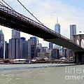 Nyc Skyline-brooklyn Bridge by Ed Weidman
