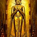 Buddha Inside Ananda Temple - Bagan - Myanmar by Luciano Mortula
