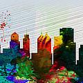 Buffalo City Skyline by Naxart Studio