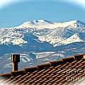 Cold Day New Snow Up There by Phyllis Kaltenbach