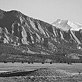 Colorado Rocky Mountains Flatirons With Snow Covered Twin Peaks by James BO Insogna