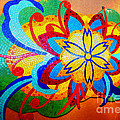 Colorful Tile Abstract by Judy Palkimas