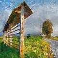 Country Road With Hayrack by Dragica  Micki Fortuna