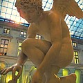 Cupid Playing With A Butterfly - Louvre Museum Paris by Marianna Mills