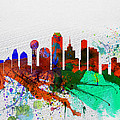 Dallas Watercolor Skyline by Naxart Studio
