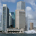 Downtown Miami Waterfront And Seafair by Bradford Martin