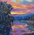 Dusk River by David Lloyd Glover