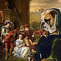 English Bulldog Art Canvas Print - The Garden Party by Sandra Sij