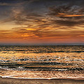 Evening At The Beach by Louise Hill