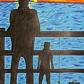Father And Son Fishing by Jeffrey Koss