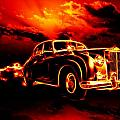 Fire  Flame  Hell  Classic Car  City by Tian Chen