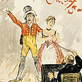 France Paris Poster Of Stage Performance At Cafe Chantant by Anonymous