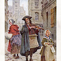 French Street Musicians -  Fiddler by Mary Evans Picture Library