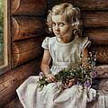 Girl With Wild Flowers by Arthur Braginsky