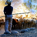Herder Going Home In Mexico by Phyllis Kaltenbach