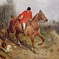Hunting Scene by John Alfred  Wheeler