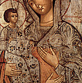 Icon Of The Blessed Virgin With Three Hands by Novgorod School