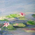 Impressionistic Lilies Monet by Eric  Schiabor