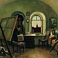 In The Studio On The Island Of Valaam by Ivan Shishkin