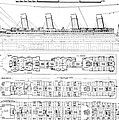 Inquiry Into The Loss Of The Titanic Cross Sections Of The Ship  by English School