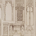 Islamic And Moorish Design For Shutters And Divans by Jean Francois Albanis de Beaumont