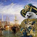 Japanese Spitz Art Canvas Print by Sandra Sij