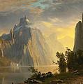 Lake In The Sierra Nevada by Albert Bierstadt