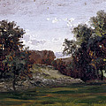 Landscape Near The Monastery Piedra. Aragon by Carlos de Haes