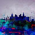 Las Vegas Watercolor Skyline by Naxart Studio