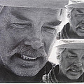 Lee Marvin Monte Walsh Variation #3 Collage Old Tucson Arizona 1969-2012 by David Lee Guss