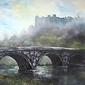 Ludlow Castle In A Mist by Jean Walker