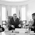 Lyndon Baines Johnson 1908-1973 36th President Of The United States In Talks With Civil Rights  by Anonymous
