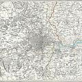 Map Of London And Environs by Paul Fearn