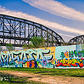 Mccarther Bridge And Grafiitti Flood Wall by Robert FERD Frank