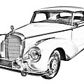 Mercedes Benz 300 Luxury Car Drawing by Keith Webber Jr