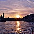 Mia Pervinca Murano Sunset  by Karen Maxwell