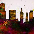 Miami City Skyline by Naxart Studio
