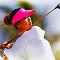 Michelle Wie Hits A Tee Shot by Don Kuing