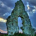 Midley Church Ruins At Dusk by Dave Godden