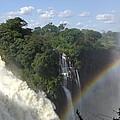 Mist And Rainbow At Victoria Falls by Barbie Corbett-Newmin