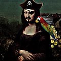 Mona Lisa Pirate Captain by Gravityx9 Designs