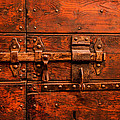 Old Door And Lock Rome Italy by Xavier Cardell