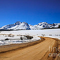 Open Road Tothe Sawtooth Mountains by Robert Bales