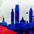 Philadelphia City Skyline by Naxart Studio